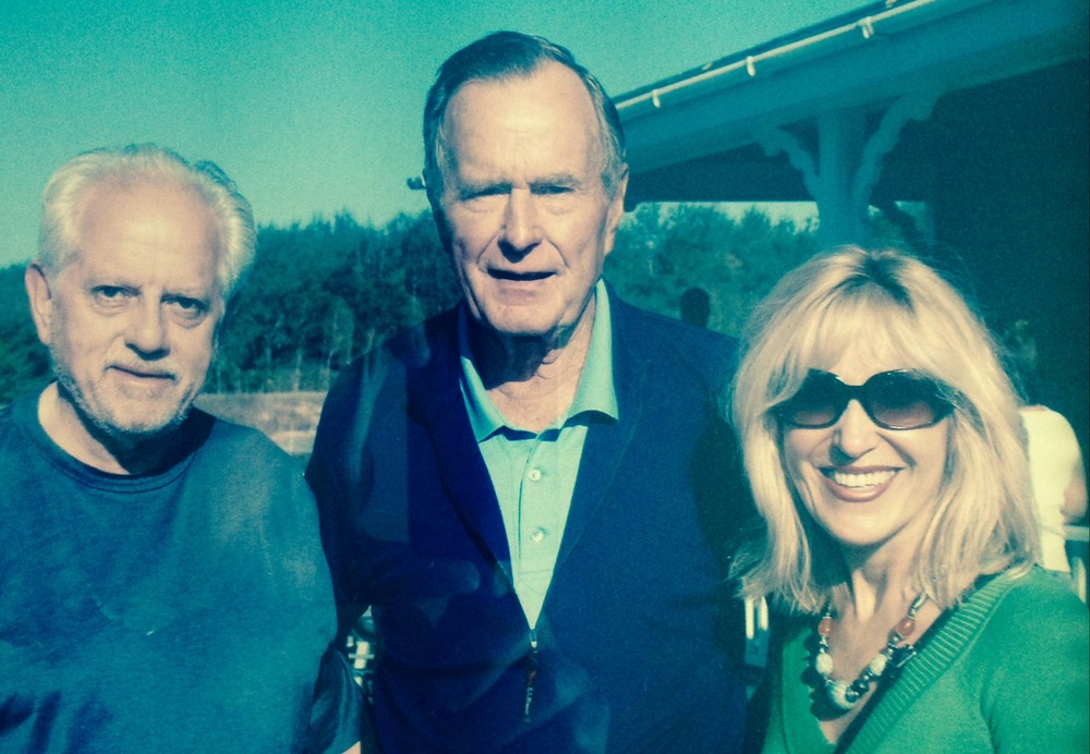 President George H. Bush With Rosenzweig & Company Advisors Stanley & Helen Cons