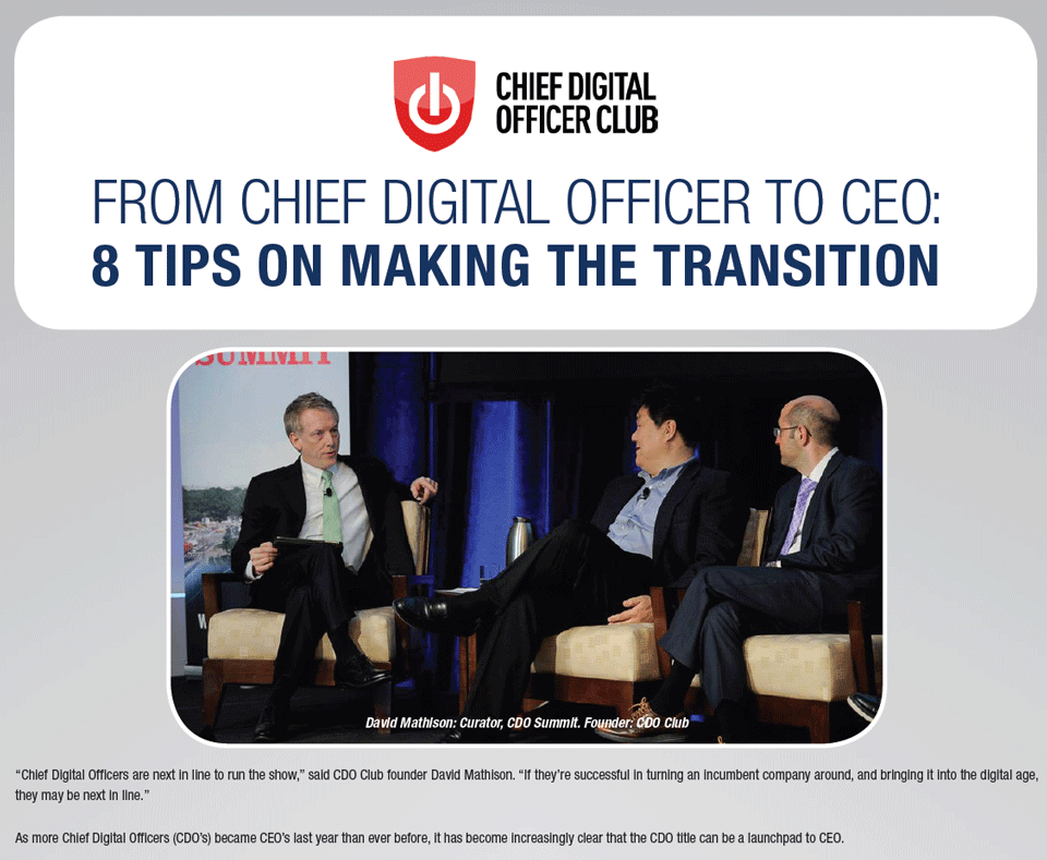 Rosenzweig & Company 8 Tips on Making The Transition From CDO To CEO