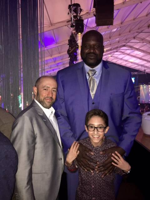 Jay Rosenzweig & His Son With Shaquille O'Neil