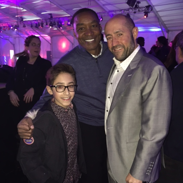 Jay Rosenzweig & his Son WITH Isiah Thomas