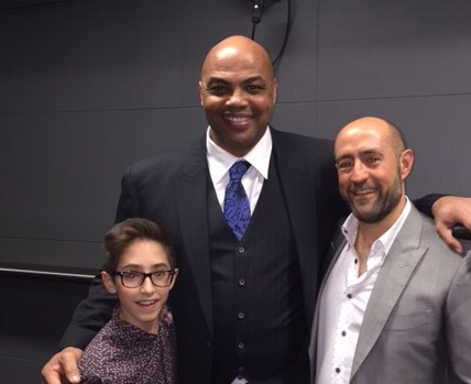 Jay Rosenzweig & His Son With Charles Barkley