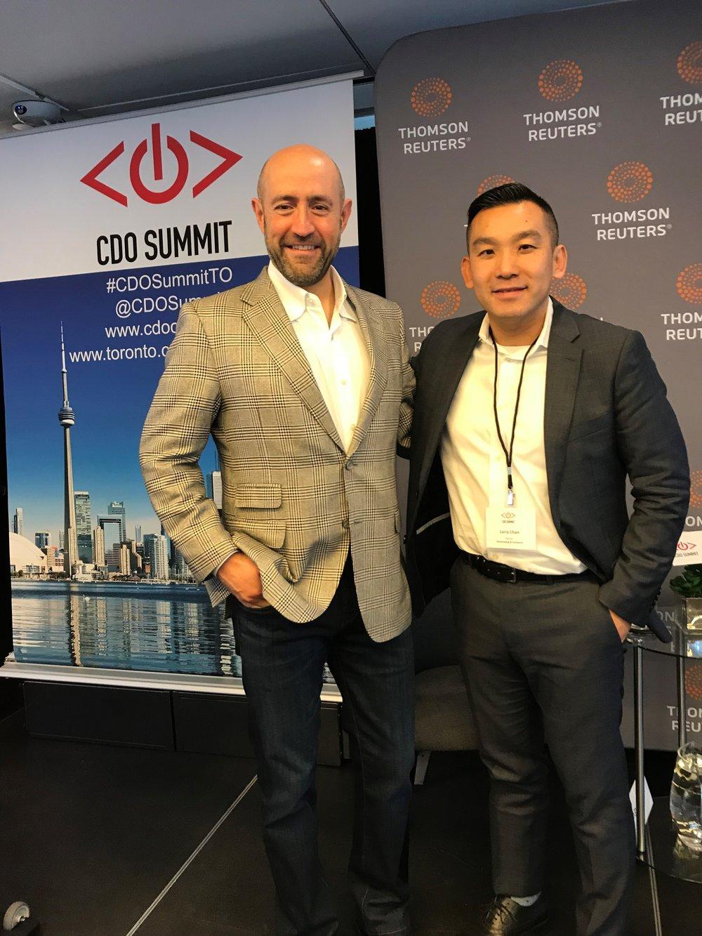 20171025 Jay Rosenzweig with Partner Larry Chan at Ground Breaking CDO Summit.jpg