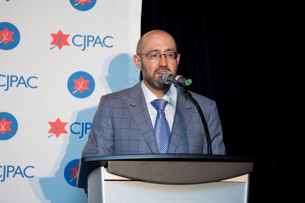 Jay Rosenzweig Speaking At CJPAC Gala Di.jpg