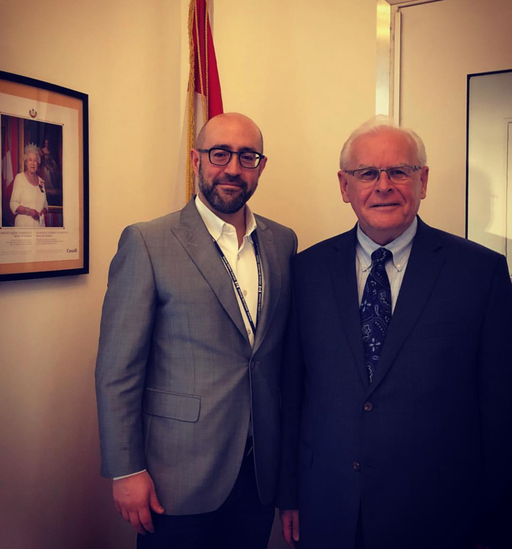 Jay Rosenzweig Meets With Dennis Savoie, Canadian Ambassador To The Vatican At The Canadian Embassy In Rome.png