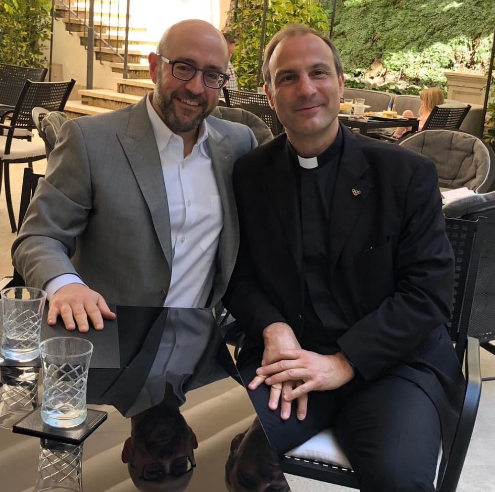 Jay Rosenzweig Meets With Msgr. Melchor Sanchez de Toca, Undersecretary of the Pontifical Council For Culture & Sport.jpg