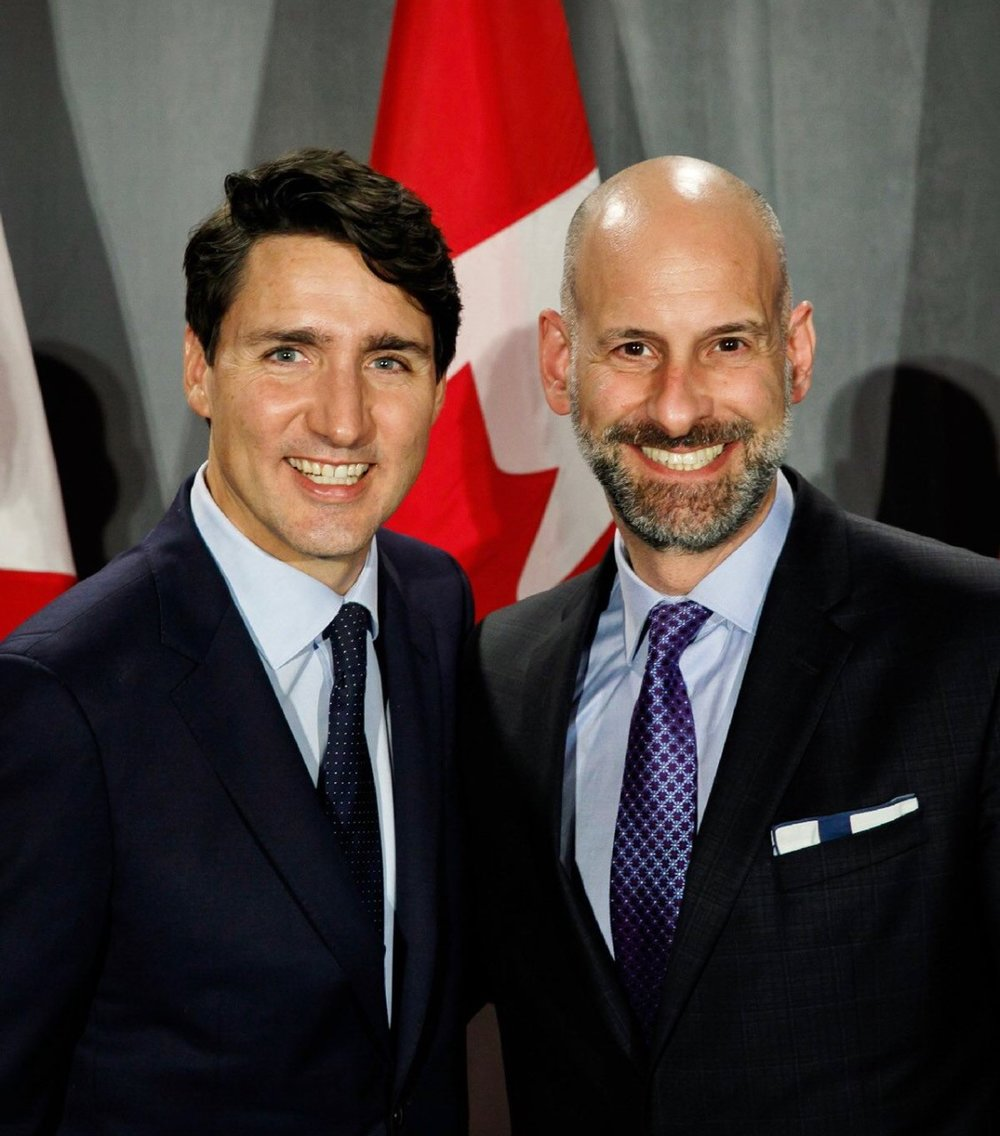 RCI Rosenzweig & Company Partner Larry Markowitz with Canadian Prime Minister Justin Trudeau 20181105.jpg