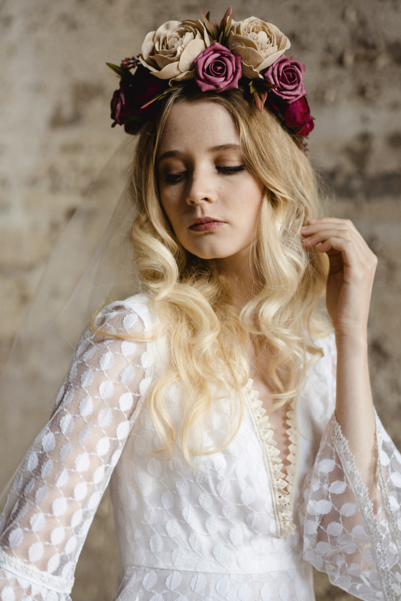 flower crowns ireland - bohemian bespoke boho vintage bridal