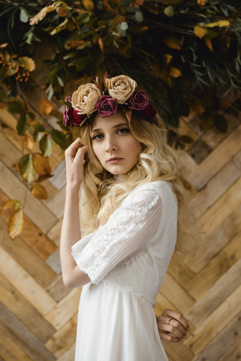 Anais flower crown - BESPOKE CROWNS IRELAND - boho vintage bridal