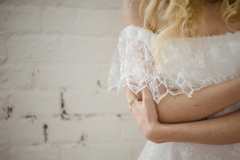 off the shoulder lace wedding dress - vintage bohemian bridal ireland