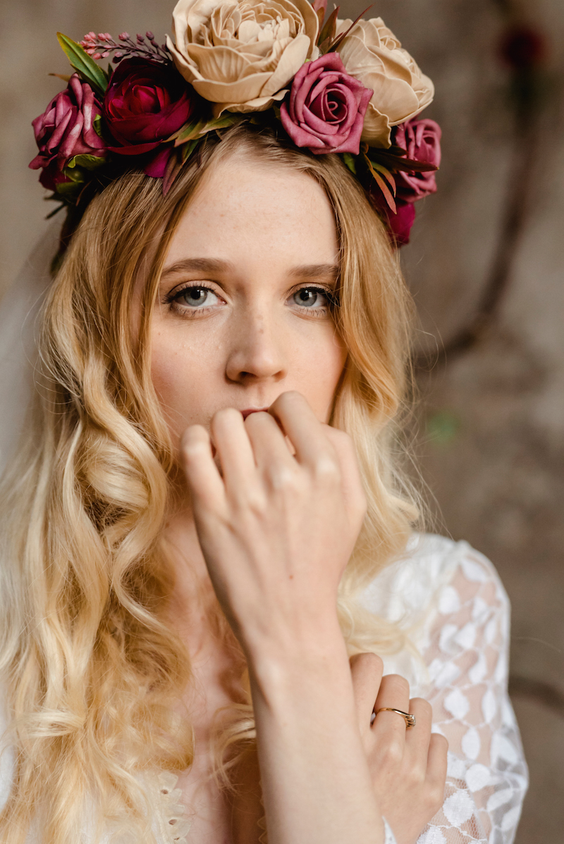 Anais flower crown by archive 12 - vintage boho modern bohemian bridal