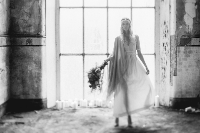 fashion vintage bridal photoshoot editorial - bohemia boho vintage wedding dresses ireland