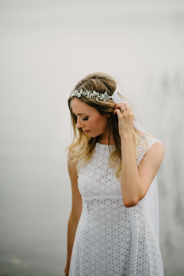 Be Bespoke Bridal Headpieces Ireland - A12 real bride l o v e 1970s boho wedding dress