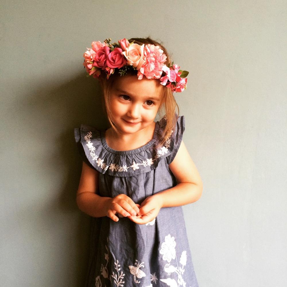 ALOHA flower crown, flower girls, boho brides, bohemian weddings
