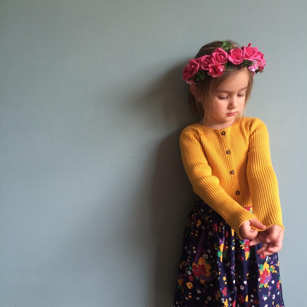 FRIDA flower crown, cool boho flower girls, modern vintage bridal