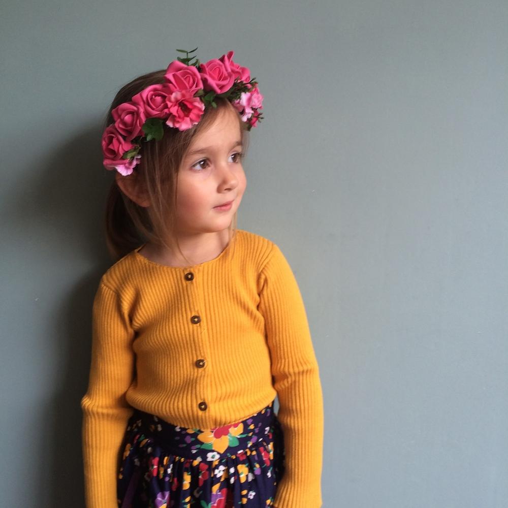 FRIDA KAHLO mini flower hairband, cool boho modern flower girls, ireland