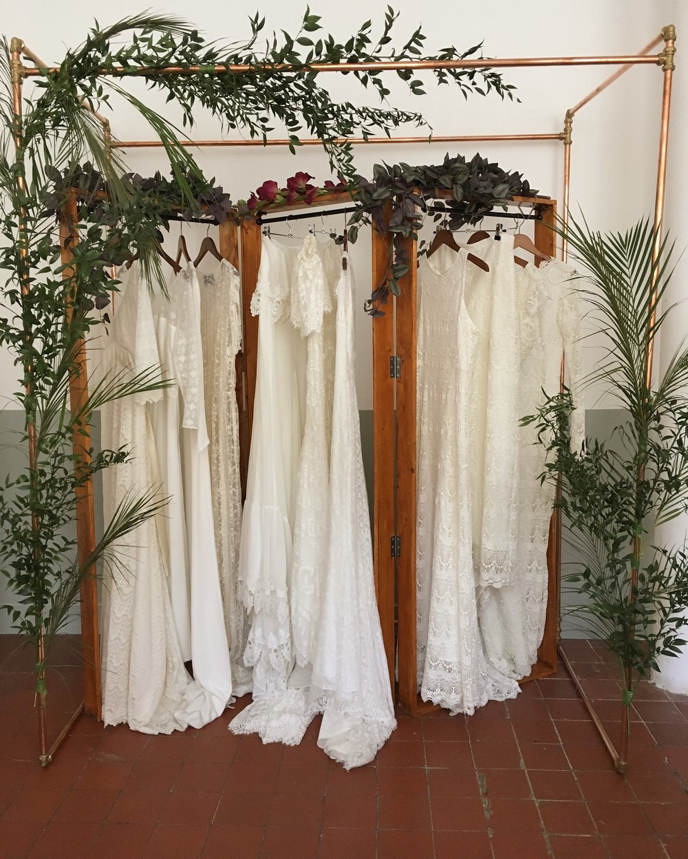 copper chuppah from   Wild Thing Botanical