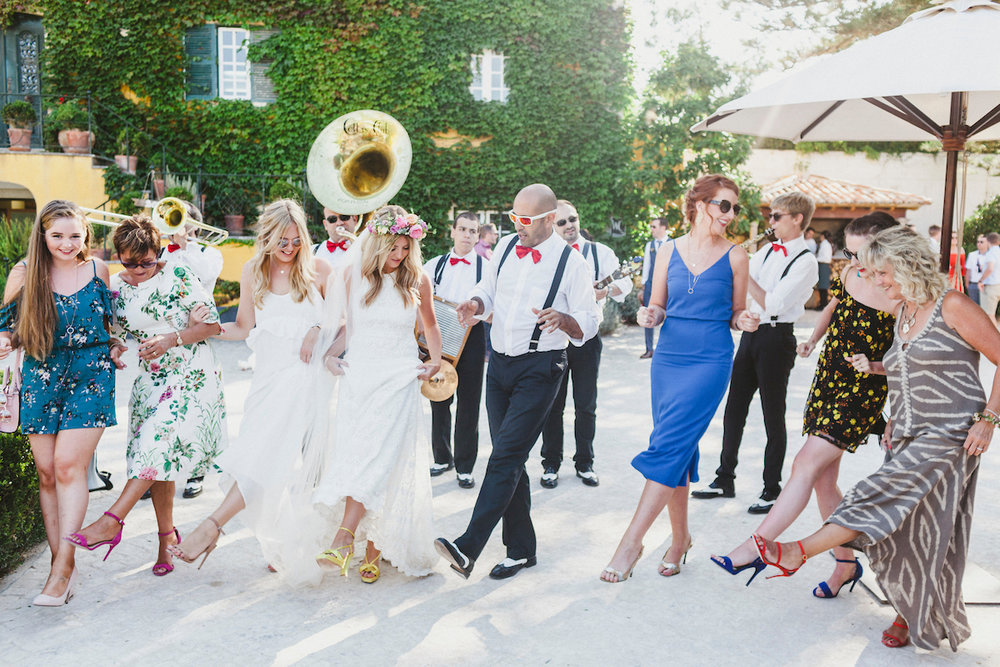 Sinead wore the Daughters of Simone Dylan dress for her gorgeous wedding in Portugal