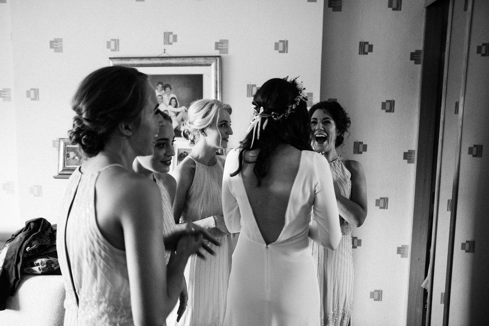 Minna Hepburn bride Belfast