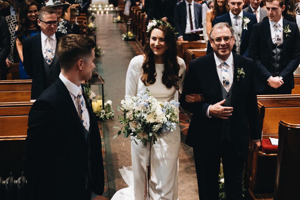 Irish bride wearing Minna Hepburn Anya