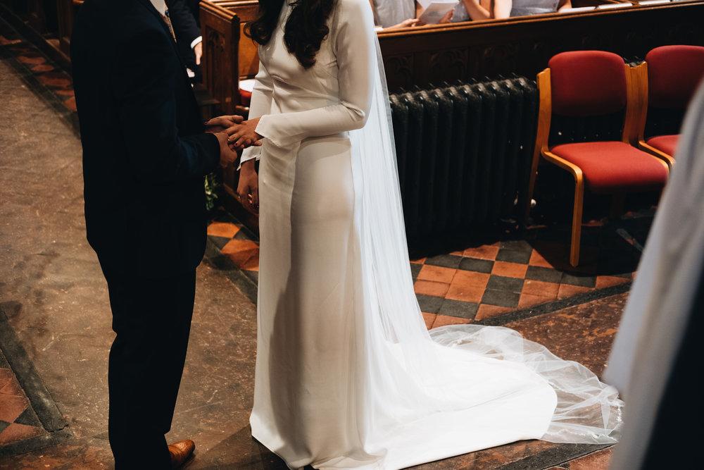 Simple modern wedding dress Archive 12