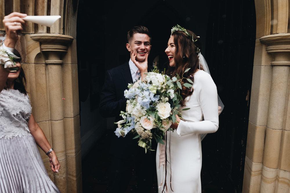 Minna Hepburn modern minimal wedding dress