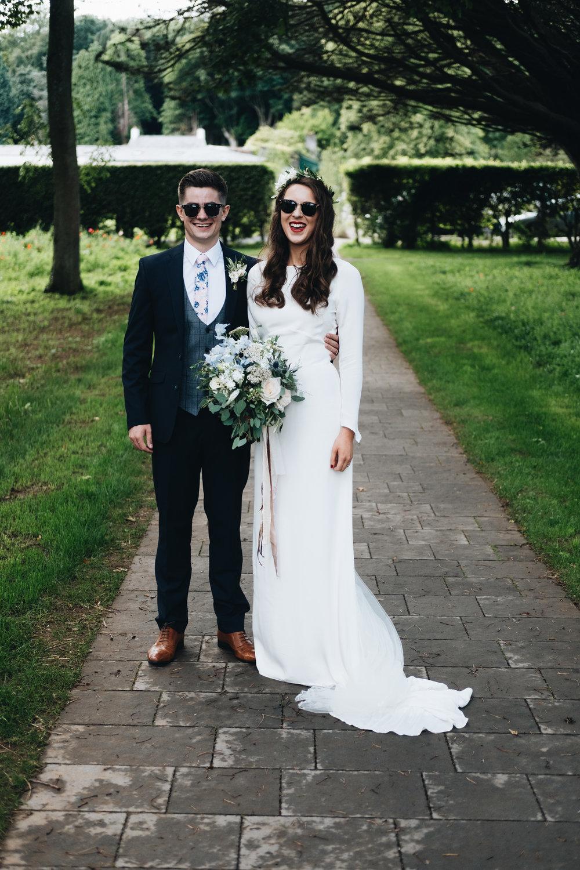 cool bride Jess wearing Minna Hepburn