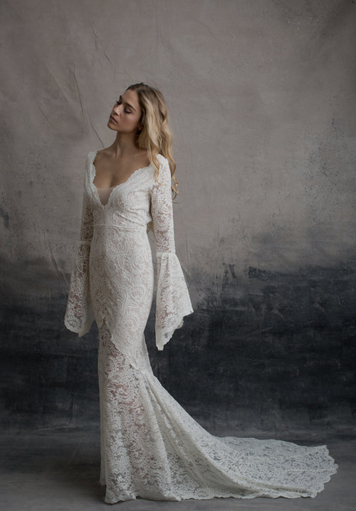 long sleeved wedding dresses - paris