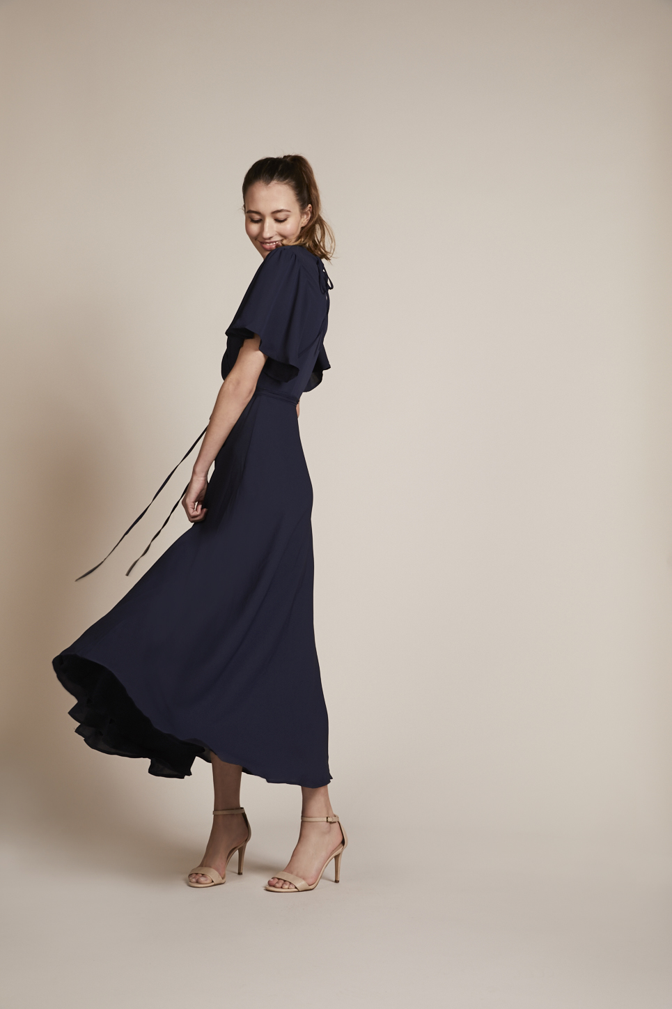 Rewritten bridesmaids florence wrap dress