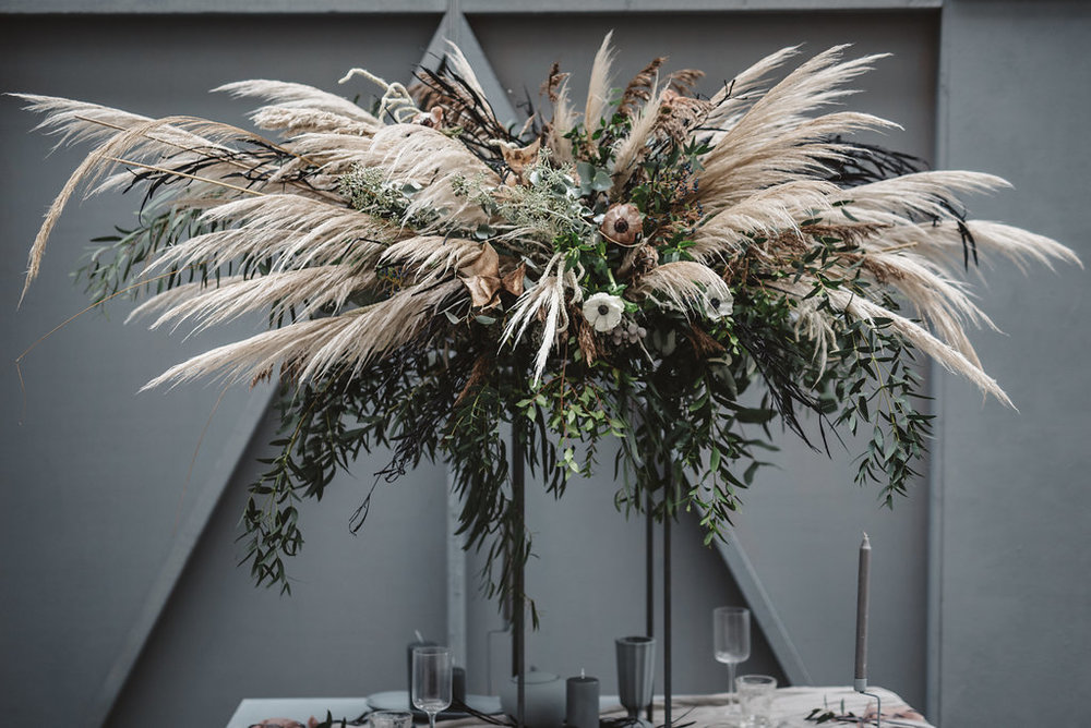 flower by mere table installation