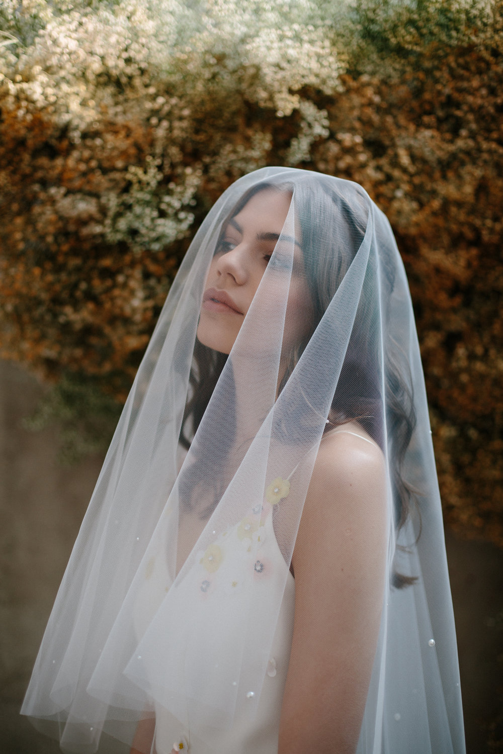 Blue Meadow bridal pippa veil at Archive 12