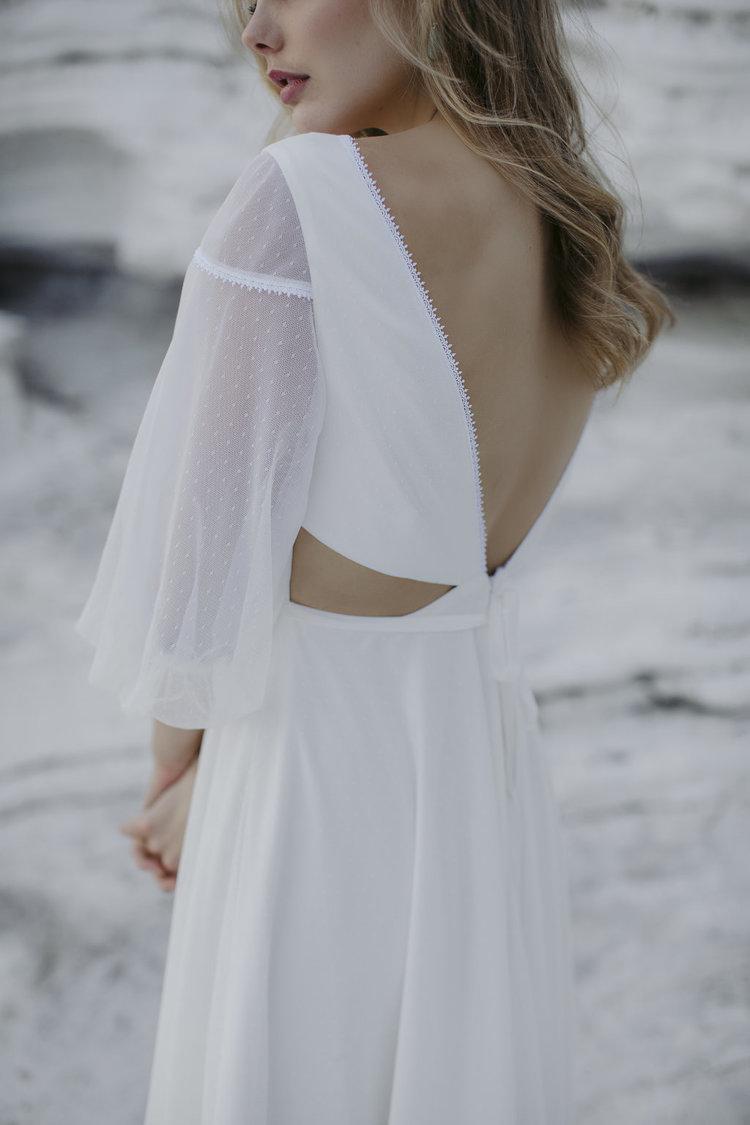 LOW KEY MODERN WEDDING DRESS