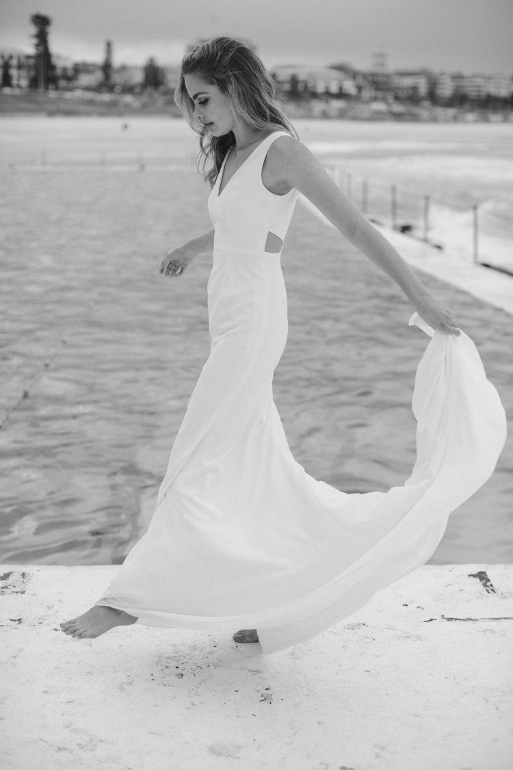 LOW KEY SIMPLE  WEDDING DRESS