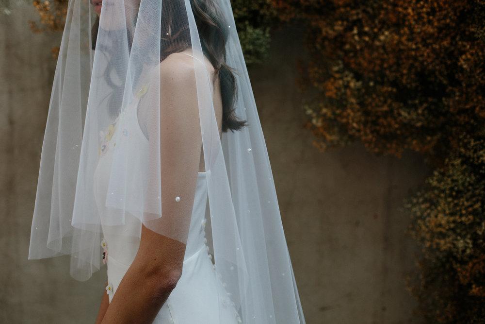 Pippa veil by  Blue Meadow Bridal