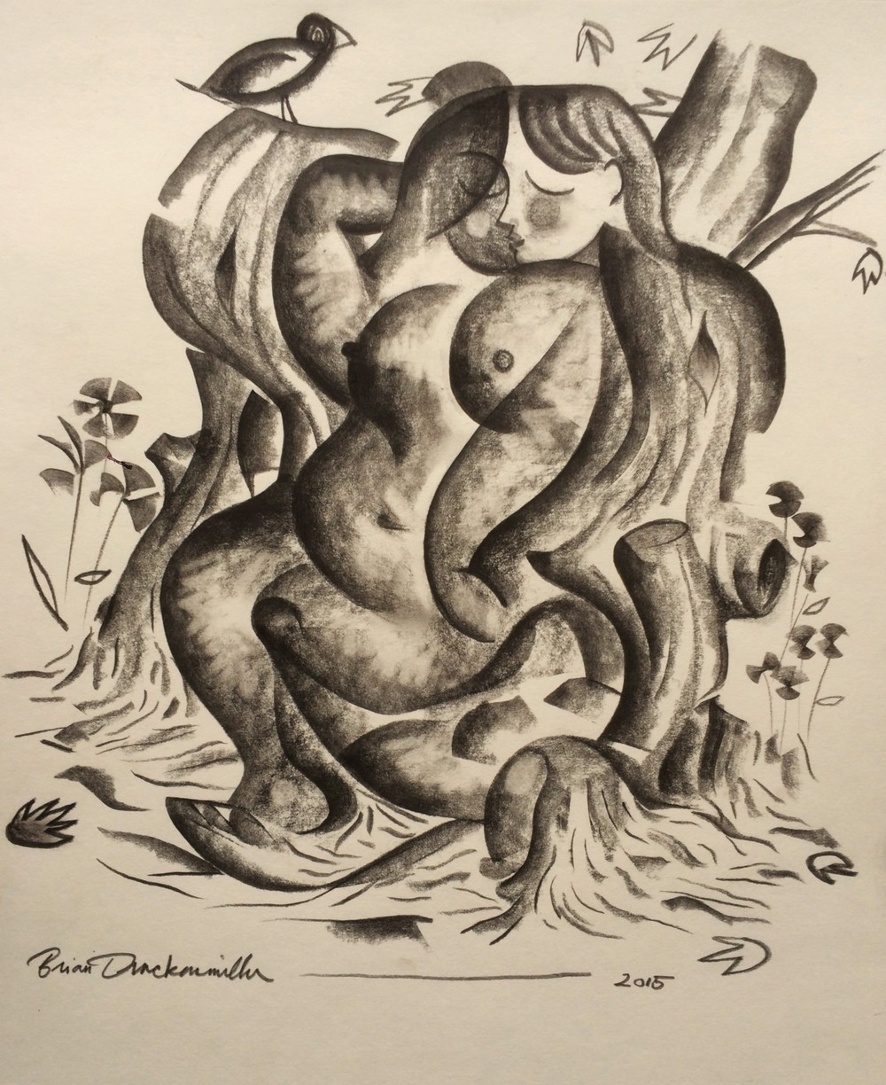 """Woman in the Trees"""