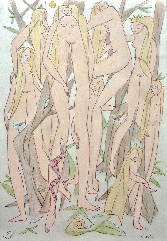 """Les Femmes Parmi Les Arbres"""