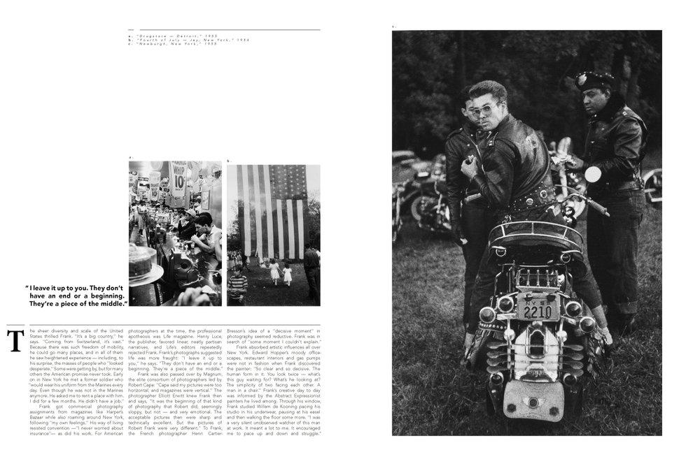 Robert Frank Magazine Spread