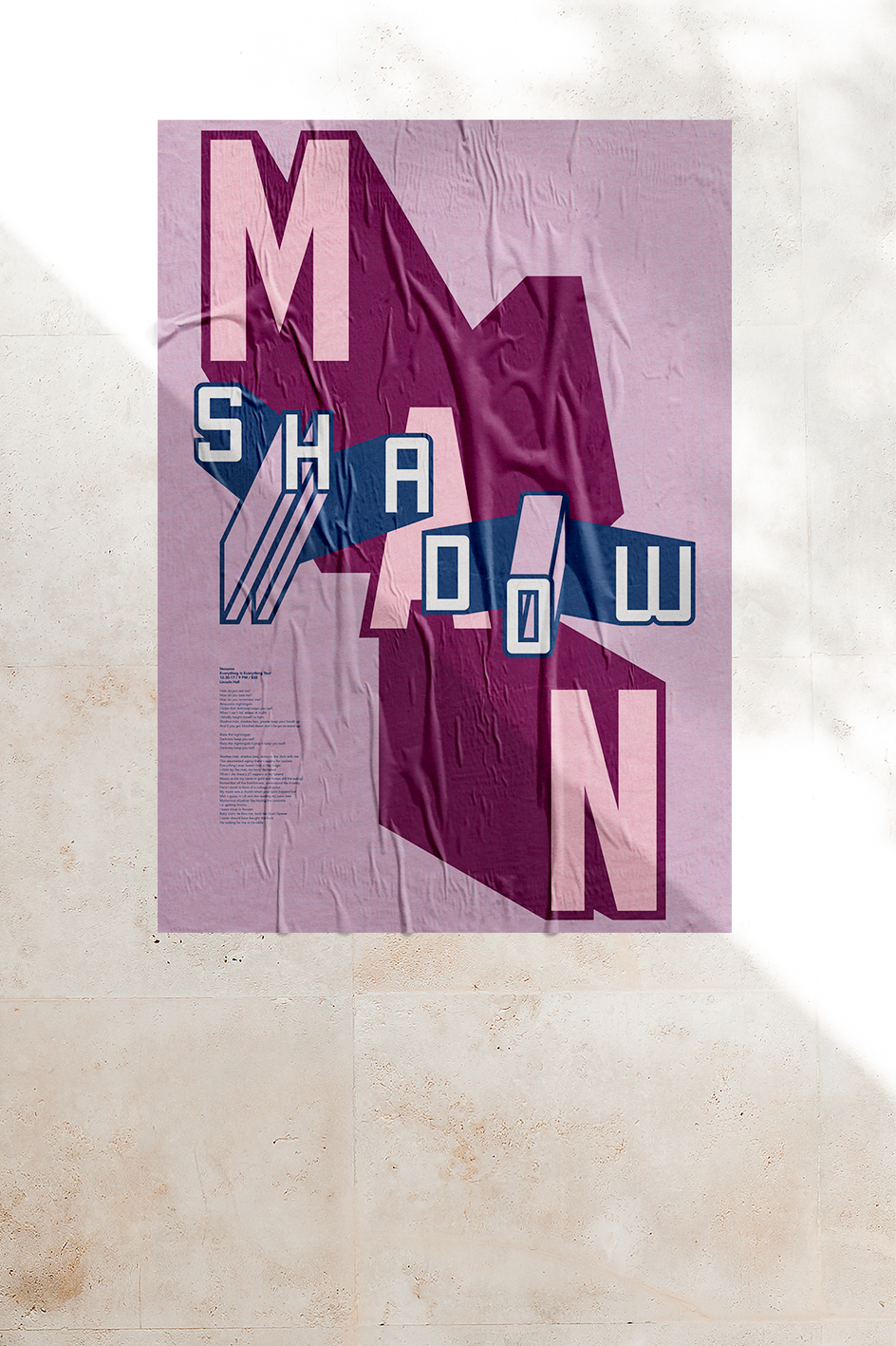 """Shadow Man"" Poster"