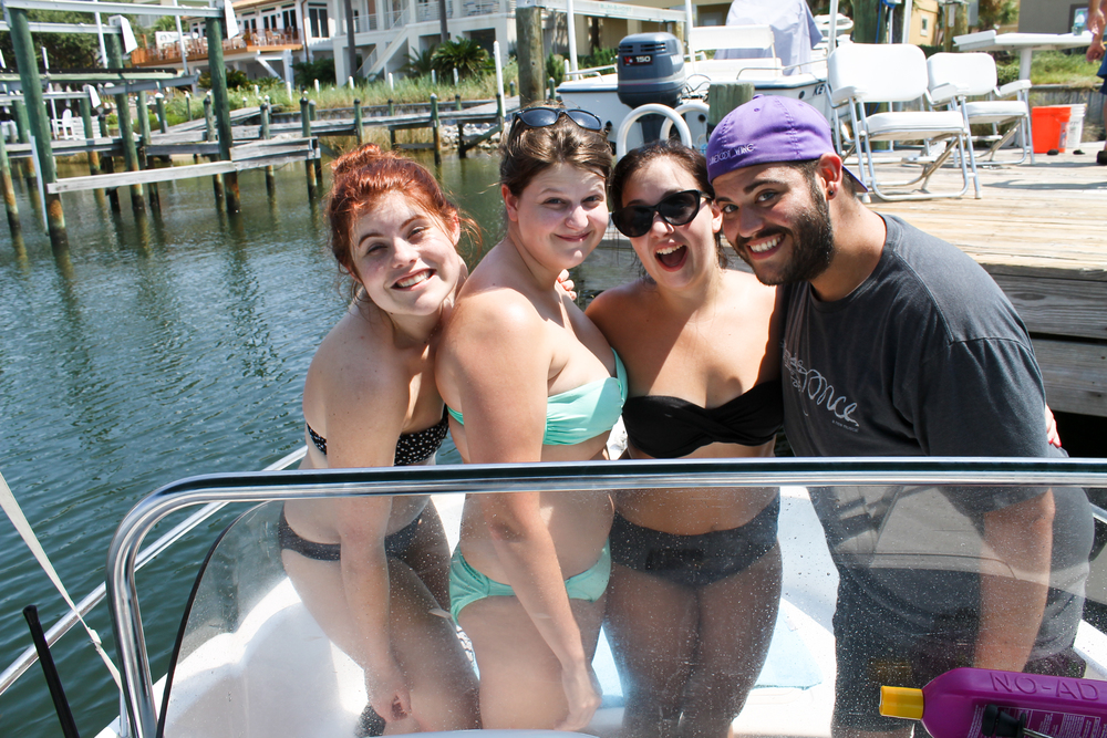 We went out on Kayla's mom's new boat!
