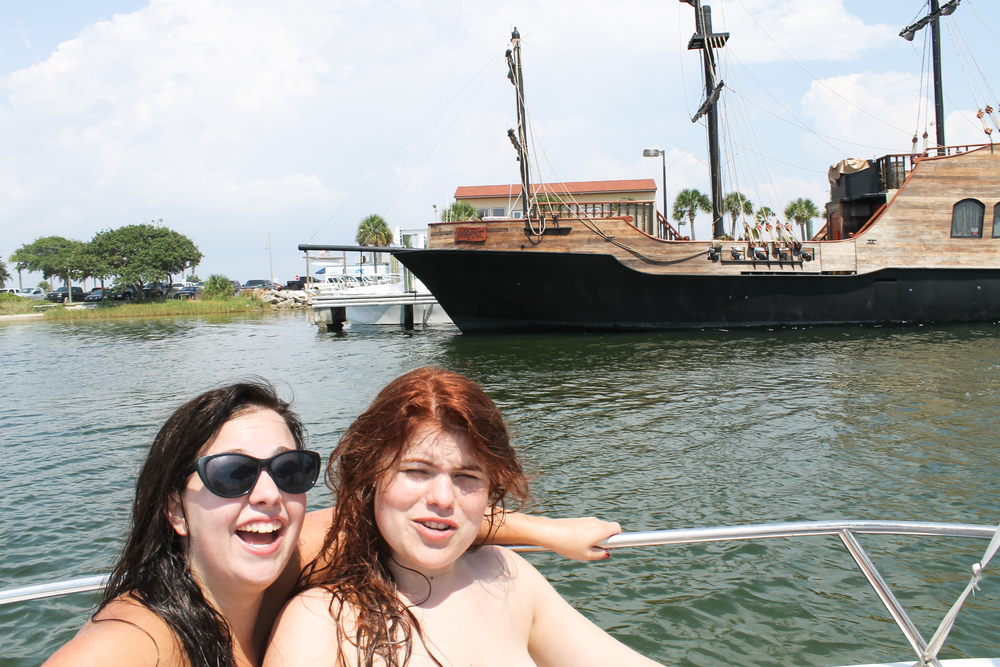 A pirate ship?? And we look naked..
