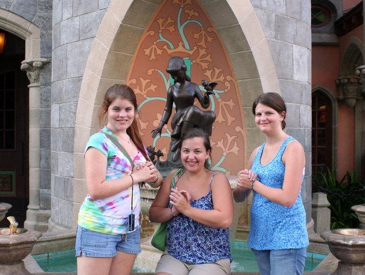 Kayla, Rachael and I there around 2010.