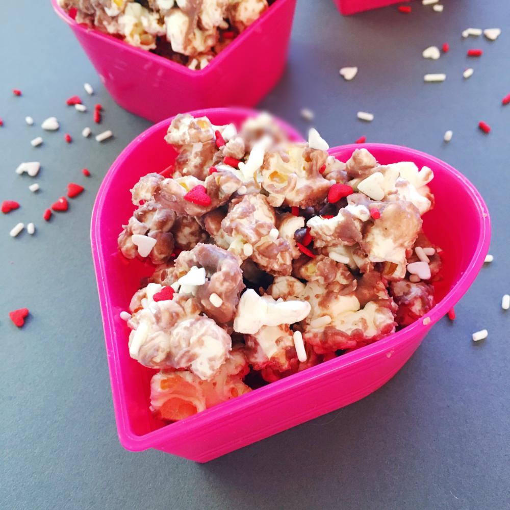 Red Velvet Cake Batter Popcorn