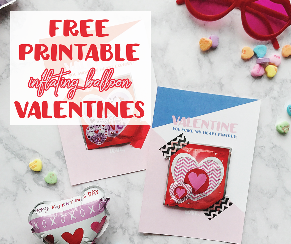 Printable Valentine Inflating Balloon