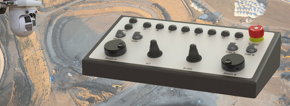 customized control panels with joystick