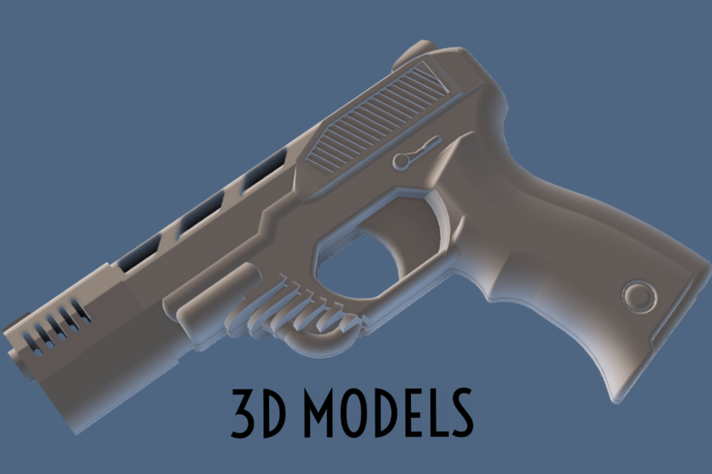 Check out my 3D models of props ranging from video game extractions to original pieces, many in interactive viewers.