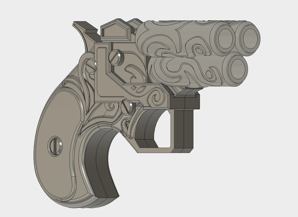 FIona Triple Barrel Derringer Version 2