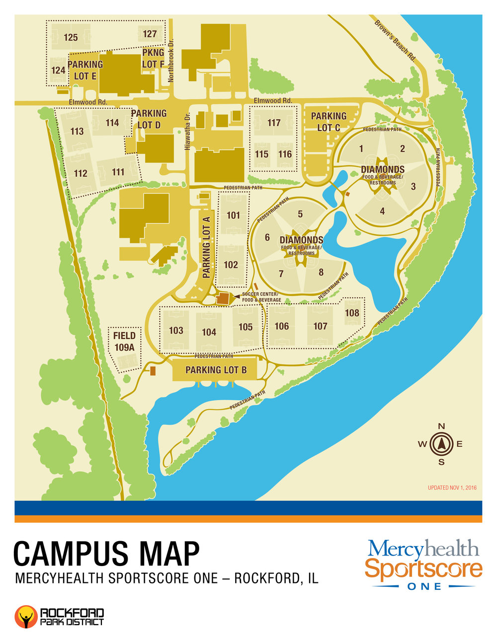 Rockford University Campus Map.Mercyhealth Sportscore One Mercyhealth Sportscore