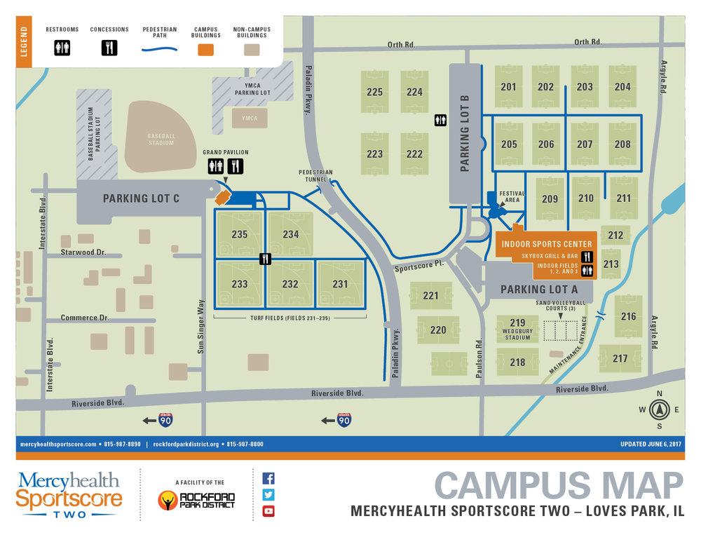 Rockford University Campus Map.Mercyhealth Sportscore Two Mercyhealth Sportscore