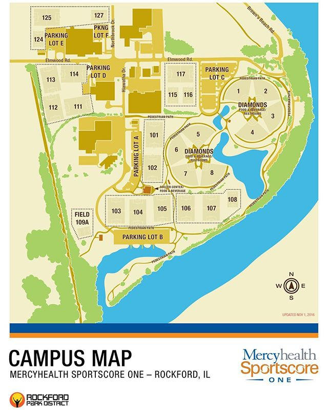 DID YOU KNOW? Mercyhealth Sportscore One, located on 147 acres in northwest Rockford, features soccer and baseball/softball diamonds, a boat ramp, fishing pond, two playgrounds, recreation path, and an indoor soccer center building. Come check us out today! #DidYouKnow #RPD