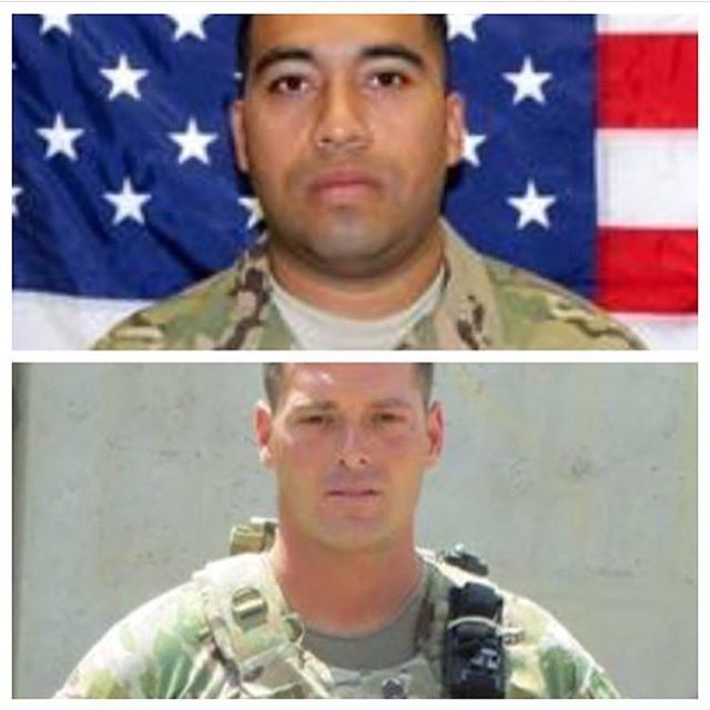 """Remembering these two heroes today. They gave their lives to ensure that we can enjoy the freedoms we take for granted every day. Top is Sgt William Gross Paniagua, bottom is SFC William """"Kelley"""" Lacey."""