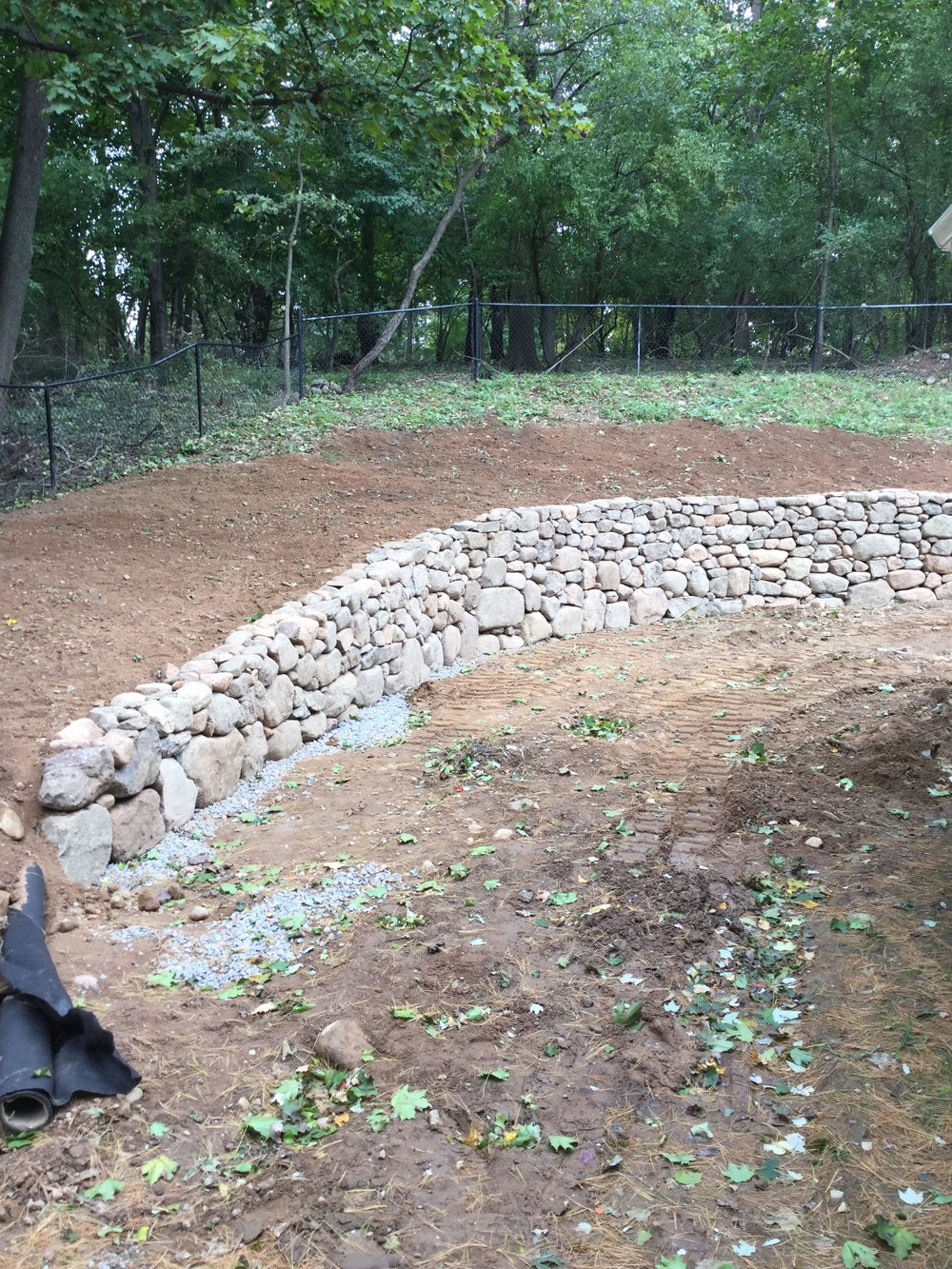 Phase One: Retaining Wall Construction